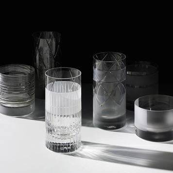 Elements long drink glass in various cuts